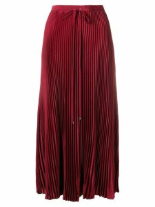 Tibi midi pleated skirt - Red