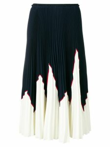 Red Valentino colour block pleated skirt - Blue