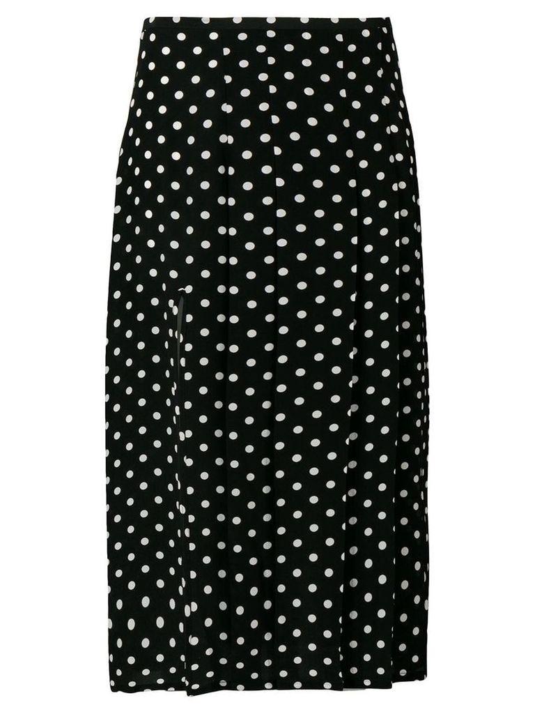 Rixo polka dot pleated skirt - Black