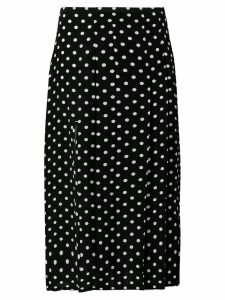 Rixo polka dot pleated skirt - Black