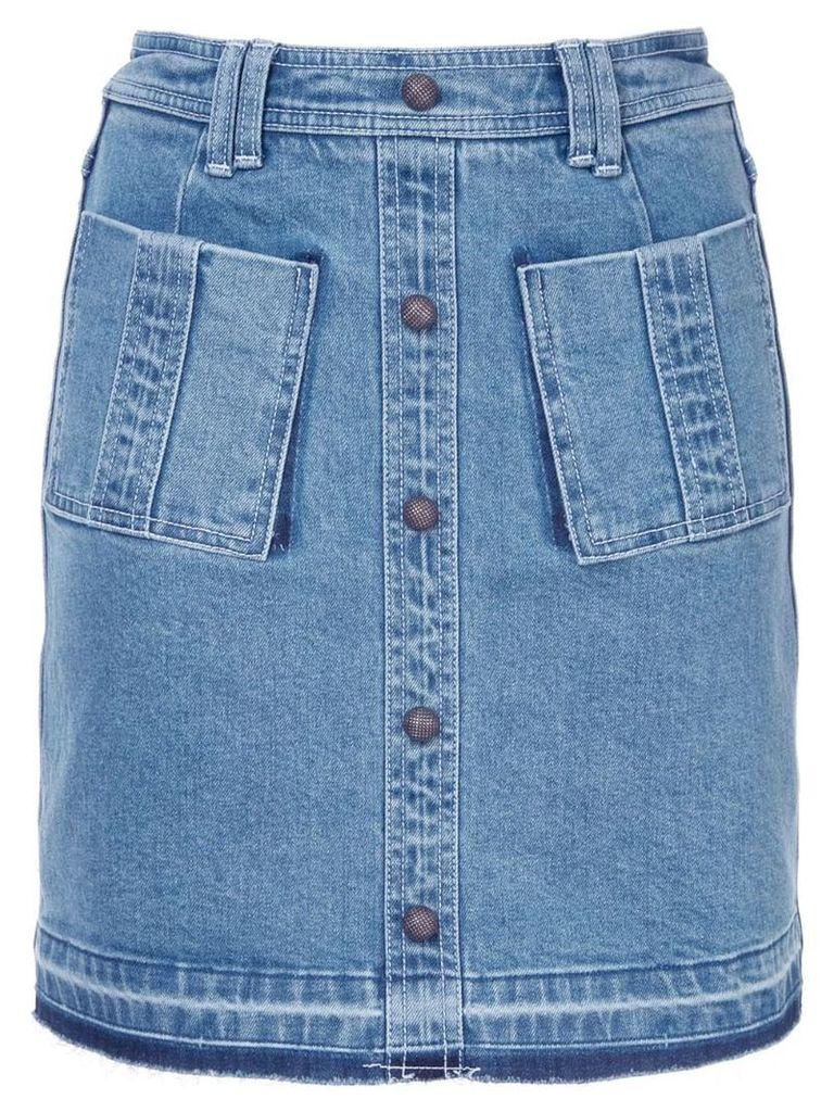 Aje double pockets denim skirt - Blue