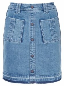 Aje double pockets denim skirt - Blue