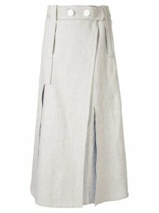 Christopher Esber side slit skirt - Neutrals
