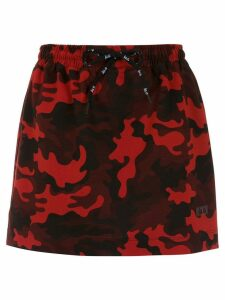 Àlg camouflage print skirt - Red