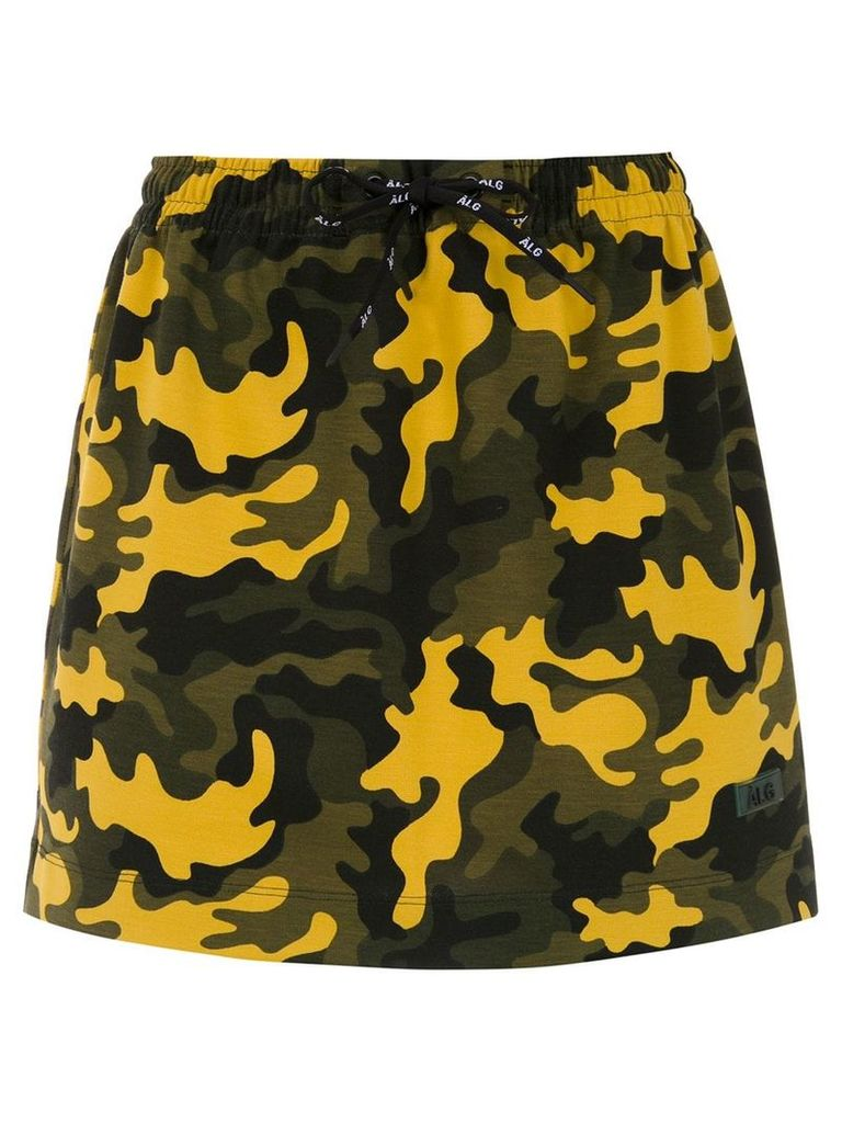 Àlg camouflage print skirt - Yellow