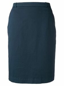 Fabiana Filippi short straight skirt - Blue