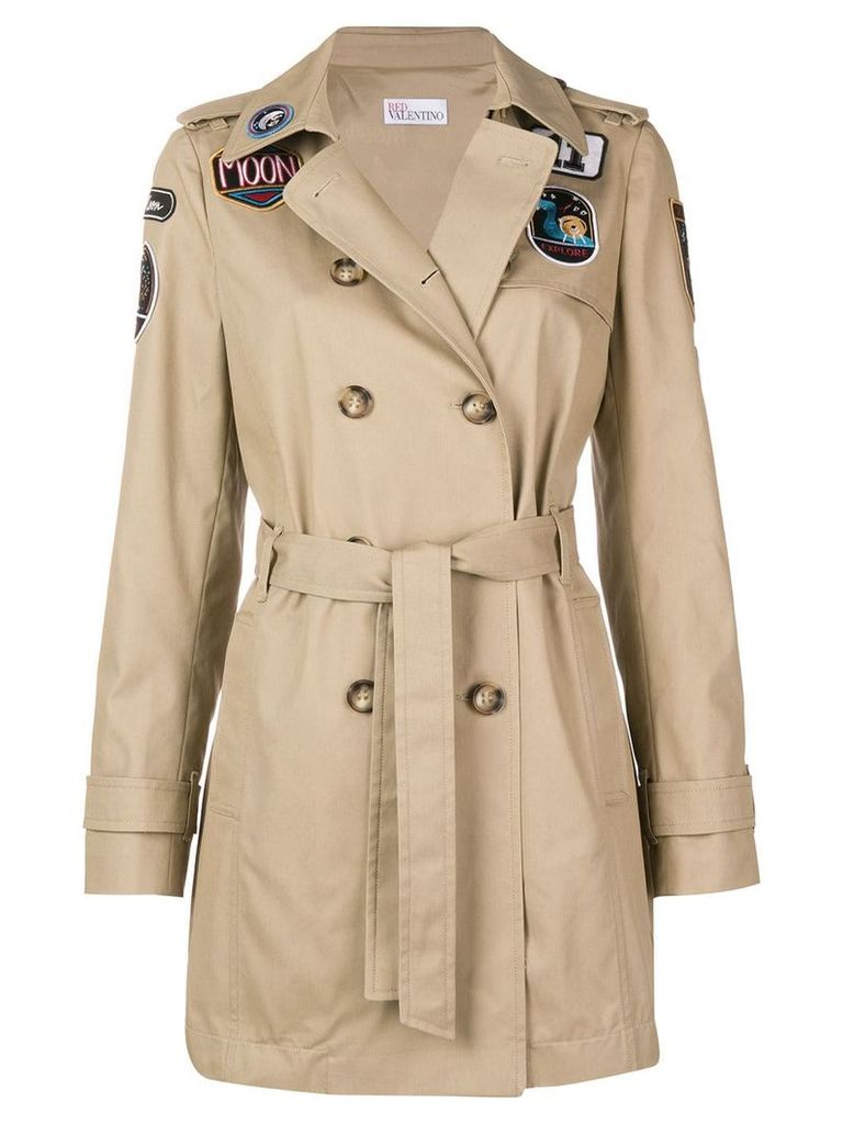 Red Valentino RED Valentino belted parka - Brown