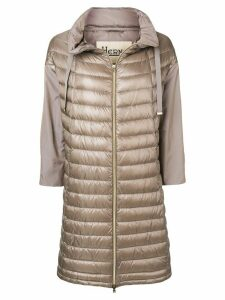 Herno zipped padded coat - Neutrals