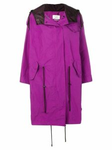 Isabel Marant Étoile oversized parka coat - PURPLE