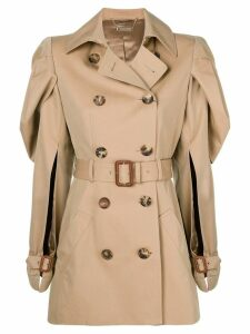 Alexander McQueen shell sleeve trench coat - Neutrals