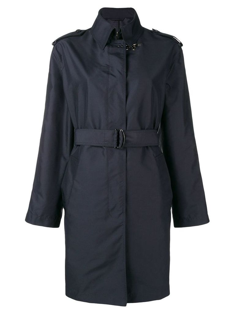 Fay belted trench coat - Blue