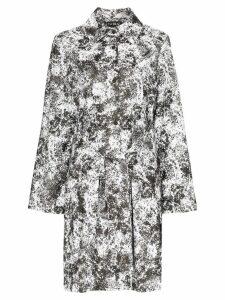 PASKAL Reflective lunar print belted raincoat - Black