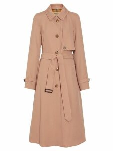 Burberry Wool Gabardine Trench Coat - Brown