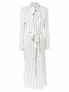 Galvan long striped coat - White