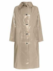 Kassl patent buttoned cotton blend coat - Grey