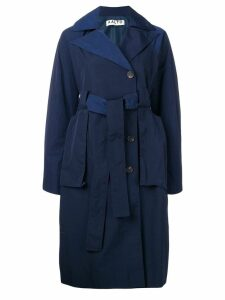 Aalto shell trench coat - Blue