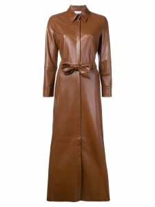 Nanushka waist-tied trench dress - Brown