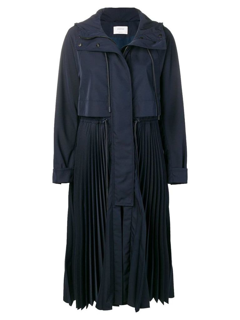 Sportmax pleated trench coat - Blue
