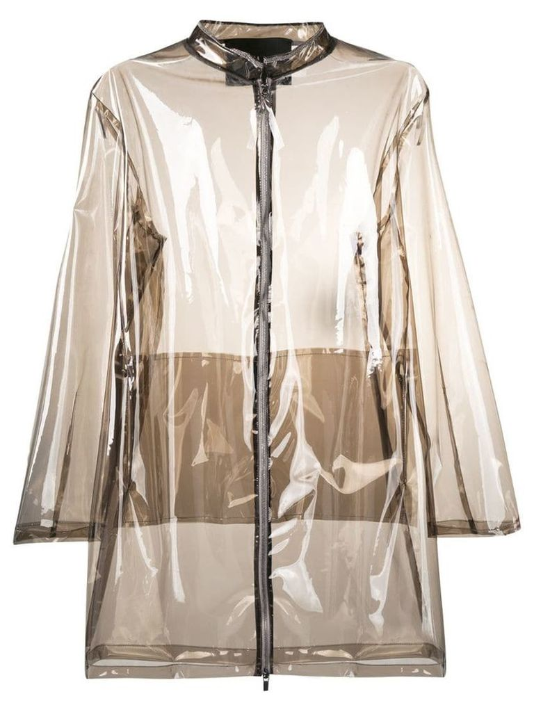 Fabiana Filippi zipped rain coat - Neutrals