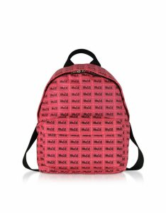 Mcq Alexander Mcqueen Neon Pink Metal Repeat Logo Backpack