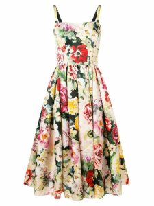 Dolce & Gabbana floral print flared dress - Pink