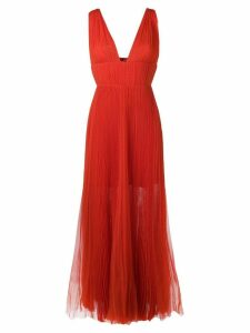 Maria Lucia Hohan pleated plunge dress - Orange