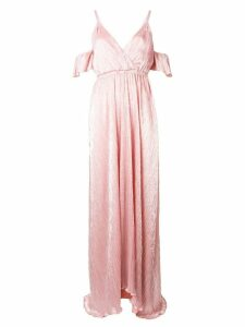Just Cavalli cold-shoulder flared maxi dress - Pink