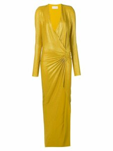 Alexandre Vauthier crystal embellished asymmetric gown - Gold