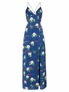 Racil Elvira V-neck floral print dress - Blue