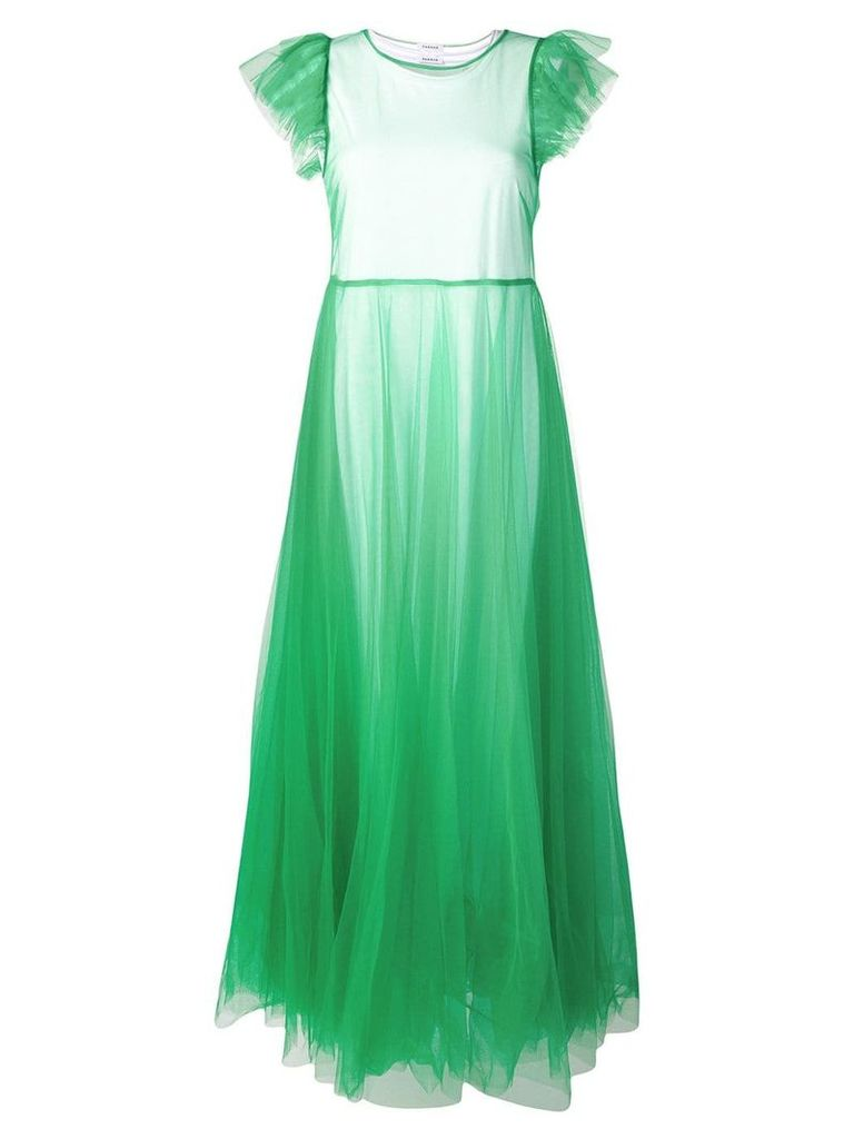 P.A.R.O.S.H. tulle evening dress - Green