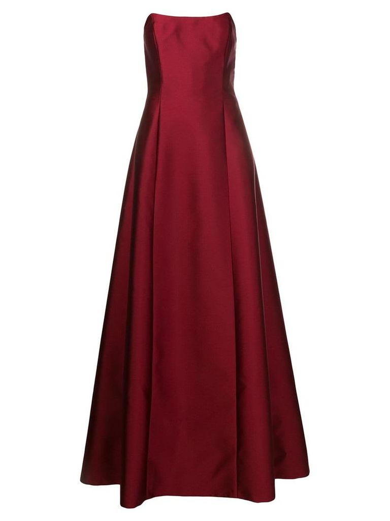Alberta Ferretti long evening dress - Red