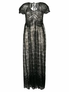 Paco Rabanne lace maxi dress - Black