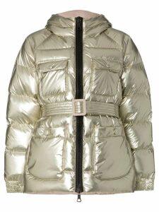 Ienki Ienki Berlin foil padded hooded jacket - Grey
