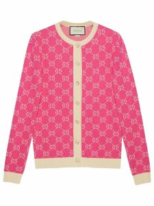 Gucci GG jacquard cotton cardigan - Pink