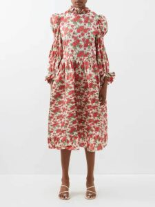 Roksanda - Marley Double Breasted Wool Blend Coat - Womens - Light Pink