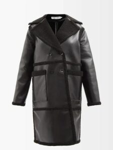 Pleats Please Issey Miyake - Stilted Form Pleated Coat - Womens - Black