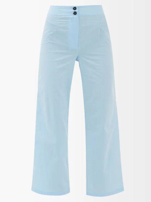 Joseph - Finch Wrap Wool Blend Midi Skirt - Womens - Beige