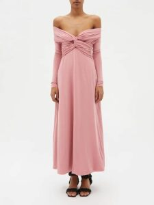 Prada - Floral Print Cotton Poplin Midi Skirt - Womens - Yellow Multi