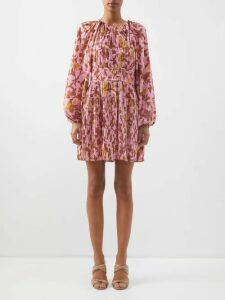 Dolce & Gabbana - Floral Print Crepe Pencil Skirt - Womens - Ivory Multi