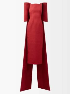 Mary Katrantzou - Opium Perfume Print Crepe Pencil Skirt - Womens - Black Multi