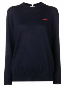 Miu Miu embroidered logo jumper - Blue