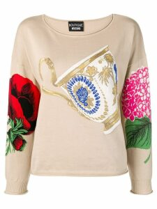 Boutique Moschino teacup sweater - Neutrals