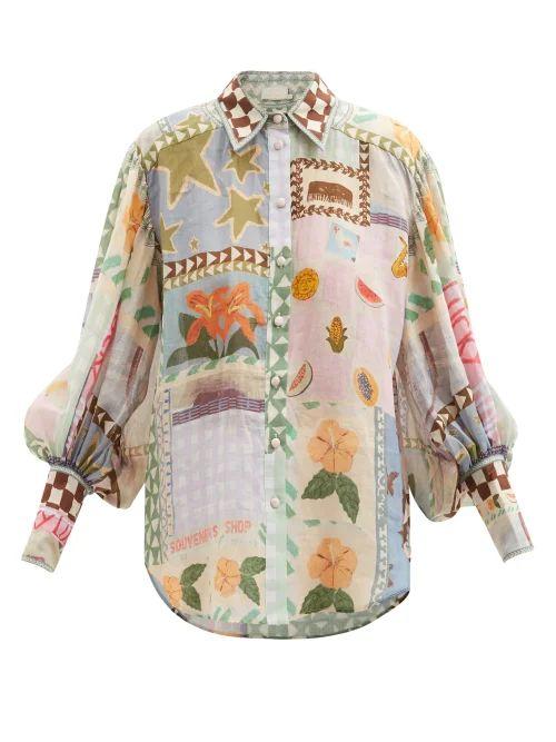 Alexachung - Ruffle Trimmed Taffeta Wrap Skirt - Womens - Red