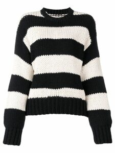 RtA striped crewneck sweatshirt - Black