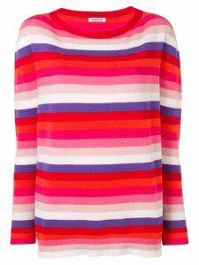P.A.R.O.S.H. striped round neck sweater - Red