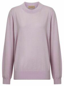 Burberry Logo Detail Merino Wool Sweater - Purple