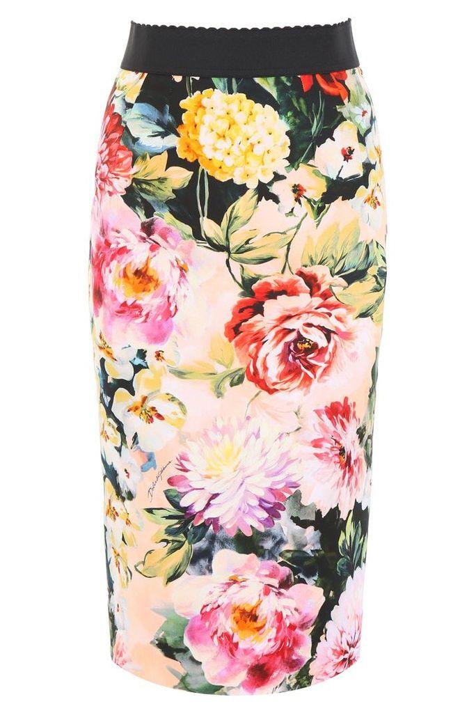 Dolce & Gabbana Floral-printed Pencil Skirt