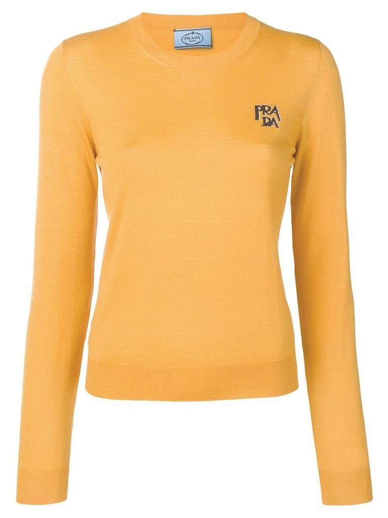 Prada logo knit sweater - Yellow