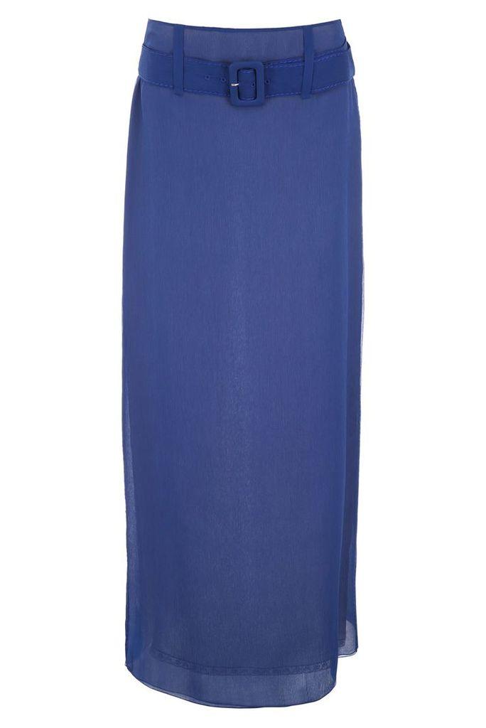 Prada Long Crepon Skirt