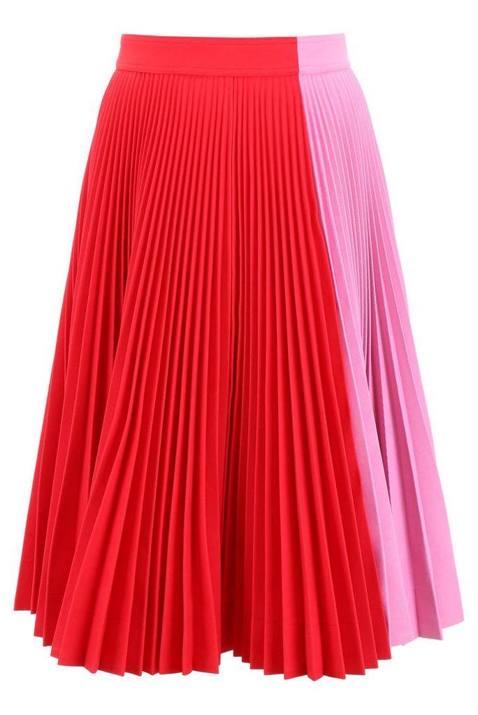 Calvin Klein Bicolor Pleated Skirt